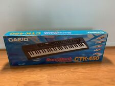 Casio CTK-450 SongBank Keyboard with Power Cord Original Box & Music Sheet Stand