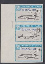 GUERNSEY-SARK COMMODORE: 1965 EUROPA opt on 1/3 Aircraft-AT SC74 IMPERF str. MNH