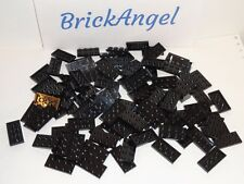 NEW LEGO Black 2X4 Plates Lot of 100 Pieces 3020