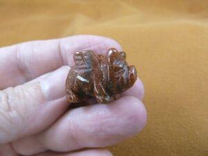 """(Y-PIG-FL-532) 1"""" Orange Goldstone FLY flying PIG pigs gemstone FIGURINE carving"""