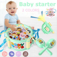 Baby Roll Drum Musical Instruments Plastic Education Toy Set Children Kids Gift