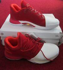 Marca Nueva con caja Adidas endurece Vol 1 Baloncesto Zapatillas Reino Unido Tamaño 9.5 en Rojo