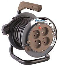 Electraline 208610 Rallonge Prolongateur Électrique 10 M avec enrouleur 4 Pri...