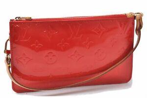 Authentic Louis Vuitton Vernis Lexington Pouch Red LV B0227