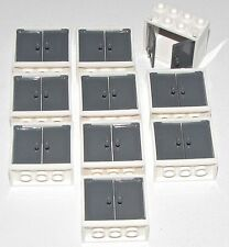 LEGO LOT OF 10 NEW WHITE WINDOWS CONTAINERS KITCHEN CUPBOARDS GREY DOORS