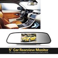 5inch Digital TFT LCD Car Rearview Mirror Reverse Monitor For Reversing Camera