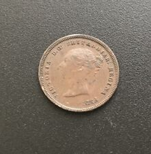 More details for  1844 queen victoria copper half farthing high grade
