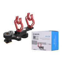 BOYA BY-C30 Shock Mount Holder Clip Camera Shoe for Shotgun Microphone MIC S5T6
