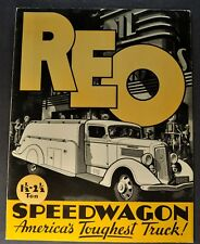 1936 Reo Speed Wagon Truck 1.5 to 2.5 Ton Brochure Folder Excellent Original 36