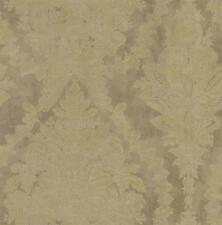 Wallpaper New Vintage 1850 Document Print French Damask Raised Ink Gold on Taupe
