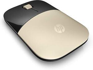 HP 2.4GHz Wireless USB Mouse Z3700 (Matte Gold/Glossy Black), Modern Gold (X7Q43