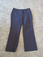 New York & Company 100% Polyester Brown Flat Front Women Dress Pants 12P