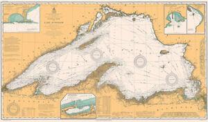 Lake Superior - 1909 - Nautical Chart Map Poster
