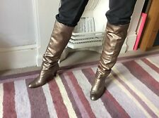 Metallic Colour Russell & Bromley Leather Boots By Stuart Weitzman Size 5.5