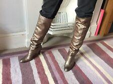 Metallico Colore Russell & Bromley Stivali in pelle da Stuart Weitzman Taglia 5.5