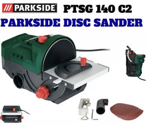 Parkside Disc Sander PTSG 140 C2 for Soft & Hard Wood With Accessories New 2021