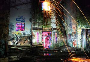 *Industrial Energies - Light Graffiti Canvas Print - Ltd Ed of 25 - Street Art*