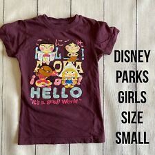 DISNEY PARKS Girls Size SMALL It's a Small World T-Shirt - VGUC!