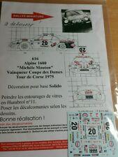 Decals 1/32 ref 616 Alpine Renault A110 Mouton Rallye Tour de Corse 1975 Rally