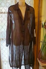 VINTAGE Style ~ Burgundy Sheer ~ Long JACKET * Size 12 * Retail tag attached $99
