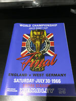 1966 WORLD CUP FINAL PROGRAMME 30/7/1966 REPLICA ENGLAND VS GERMANY 30TH JULY