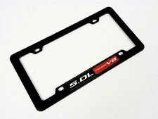 FORD MUSTANG GT 5.0L F150 COYOTE V8 ENGINE LICENSE PLATE TAG FRAME BLACK