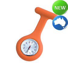 Nurse Silicone FOB Watch with Date Function - Orange