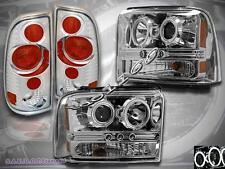 2005-2007 FORD F250 F350 PROJECTOR HEADLIGHTS CCFL CLEAR & TAIL LIGHT ALTEZZA