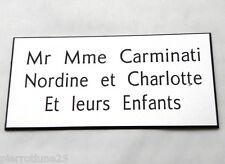 plaque gravée boite lettres porte personnalisée 3 lignes  format 48 x 100 mm