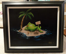 "*Michael Godard-""PARADISE FOUND""-Olive-Martini-Beach-Hawaii-Island-Ocean-Fun-Art"