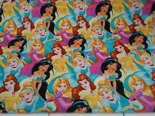 DISNEY Princesses Belle, Cinderella, Jasmine & more FQ Cotton Fabric *Rparis