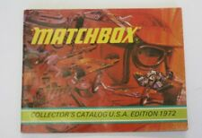 "1972 MATCHBOX COLLECTOR'S CATALOG USA EDITION 5 1/2"" X 4 1/4"" 48 PAGES"