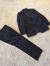 Hugo Boss 100% Virgin Cool Wool Navy Lined  Suit  Size US 40R, UK 50