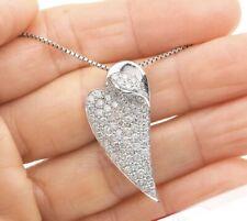 1.30ct Diamond 18K Gold Elongated Pave Cluster Heart Pendant 6.6 Gr Fine Jewel