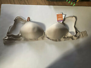 Warners Play It Cool Wire Free Bra w/Lift RN3281A 38D NUDE CONVERTIBLE  STRAPS