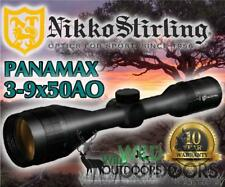 Nikko Stirling - Rifle Scope - Panamax - 3-9x50AO - Half Mil Dot Reticle