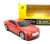 Bentley Continental GT Red Diecast Scale 1/64 (Approx 2.5 inches) RMZ City