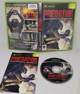 Predator Concrete Jungle Microsoft OG Xbox Complete with Manual PAL 18
