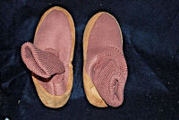 ADULT / UNISEX Tan Cardigan Slipper Socks (Assorted Sizes) (#S5700)