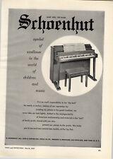 1957 PAPER AD Schoenhut Toy Piano