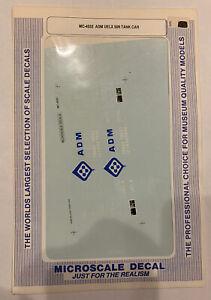 MICROSCALE HO DECAL MINICAL ADM UELX 50' TANK CAR #MC-4032