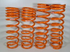 "4 Orange Heavy Metal Large Springs, DIY Garden Art Craft Supply Steampunk 12"" H"