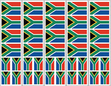 40 Removable Stickers: South Africa Flag, S. African Party Favors, Decals