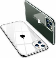 Handy Hülle iPhone 11 12 Pro Xs Max Case Transparent Silikon Schutzhülle + Glas