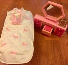 Vintage Barbie Sweet Roses Bedroom Furniture