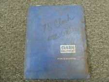 Clark CY500YS80D Forklift Lift Truck Parts Catalog Manual Book