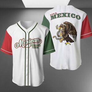 Mexican Drinking Team Baseball Jersey Shirt S-5XL