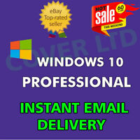 WINDOWS 10 PRO PROFESSIONAL GENUINE LICENSE KEY.🔑INSTANT DELIVERY ALL LANGUAGES