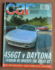 Car magazine August 1993 Ferrari Daytona, 456GT,Discovery v Terrano IIv Frontera