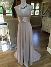 DESIGNER FOREVER PRETTY SEQUIN CAPPUCCINO PROM EVENING DRESS LONG BALL GOWN 8 36